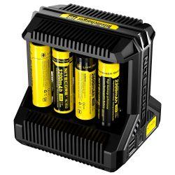 Nitecore - I8 - Caricabatterie Universale - per Ni-MH, Li-ion e IMR - AA, AAA, 14500, 18650, 26650 ed RCR123A
