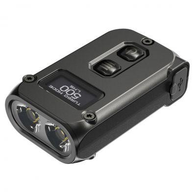 Nitecore - TUP Black - Portachiavi Ricaricabile USB - 1000 lumens e 180 metri - Torcia Led