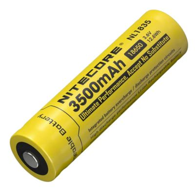 Nitecore - NL1835 - Batteria ricaricabile protetta Li-Ion 18650 3.6V - 3500mAh - 12.6Wh