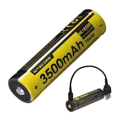 Nitecore - NL1826R - Batteria ricaricabile con attacco Micro-USB