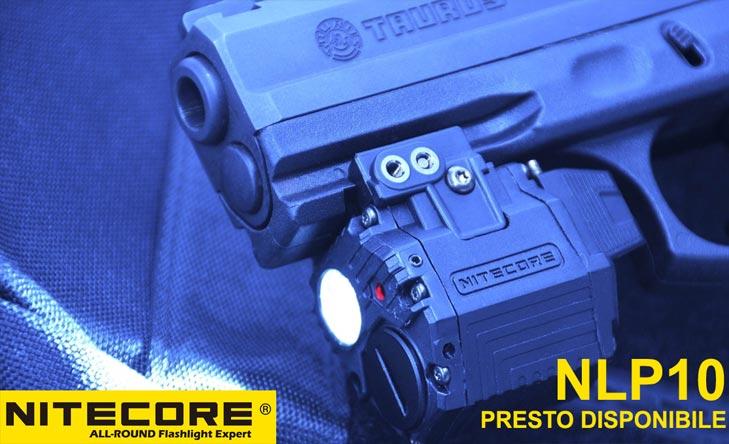 Nitecore PNL10 torcia tattica con puntatore laser