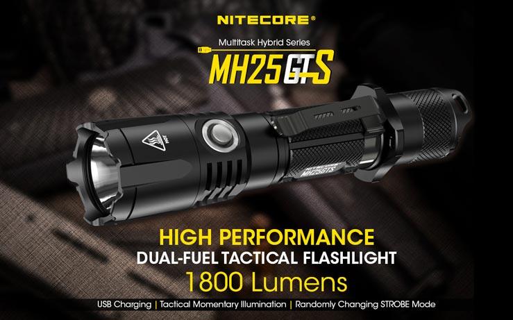 Nitecore - MH25GTS - Ricaricabile USB - 1800 lumens e 304 metri - Torcia Led