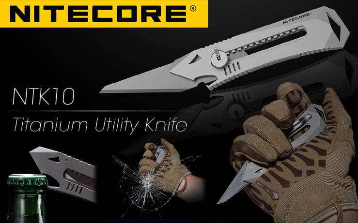 Nitecore - NTK10 EDC Titanium Utility Knife - cutter