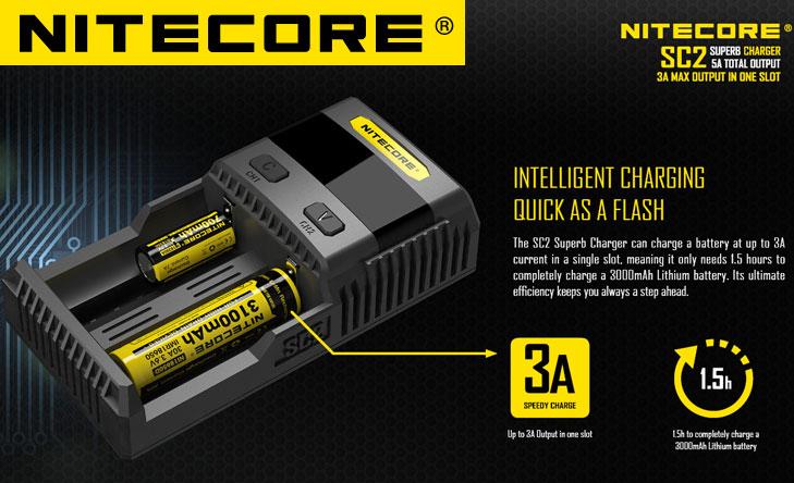 Nitecore Caricabatterie SC2
