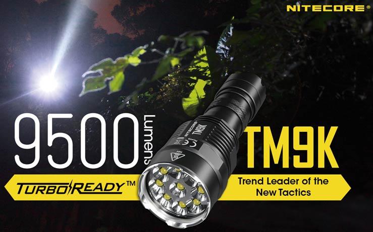 Nitecore - TM9K Tiny Monster Flashlight - 9500 Lumens e 268 metri - Ricaricabile USB