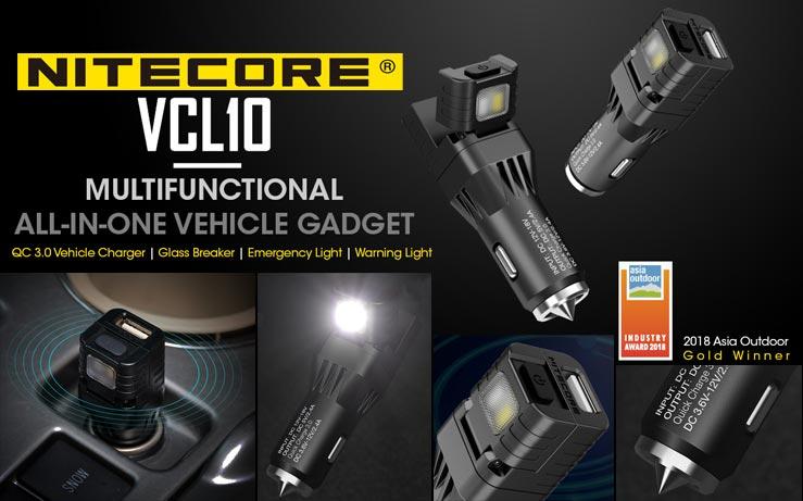 Nitecore - VCL10 Multifunctional Vehicle Gadget - 25 Lumens