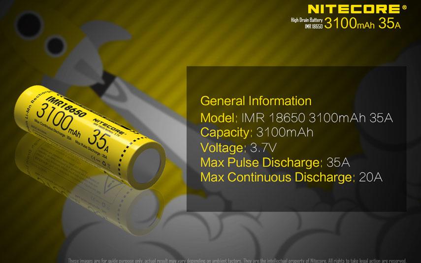 Nitecore IMR 35 3100
