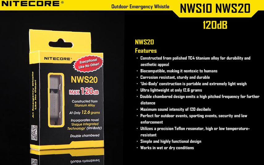 NWS20 fischietto Nitecore