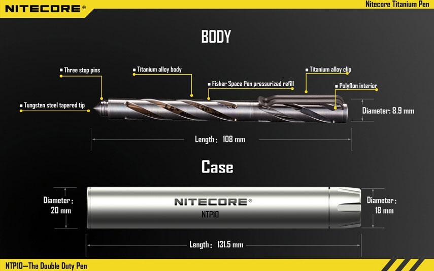Nitecore - Titanium Pen NTP10 - penna tattica